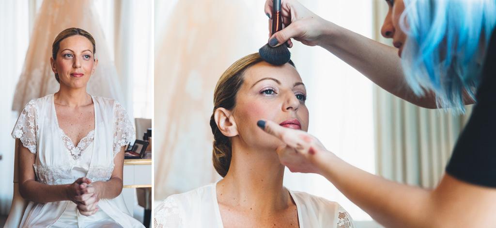 La parrucchiera sistema la pelle di Irene