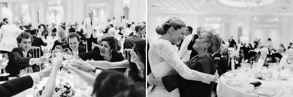 Glim invitati brindano a una lunga vita per gli sposi