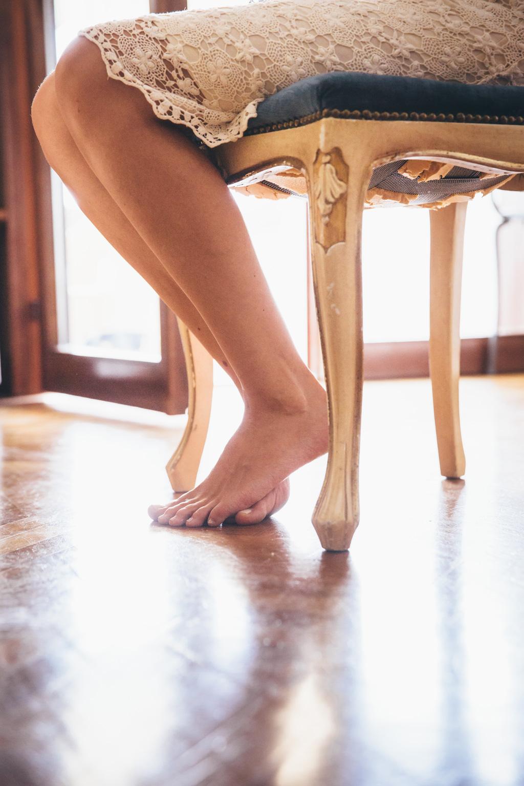 Un dettaglio tarantiniano dei piedi di Kathrin