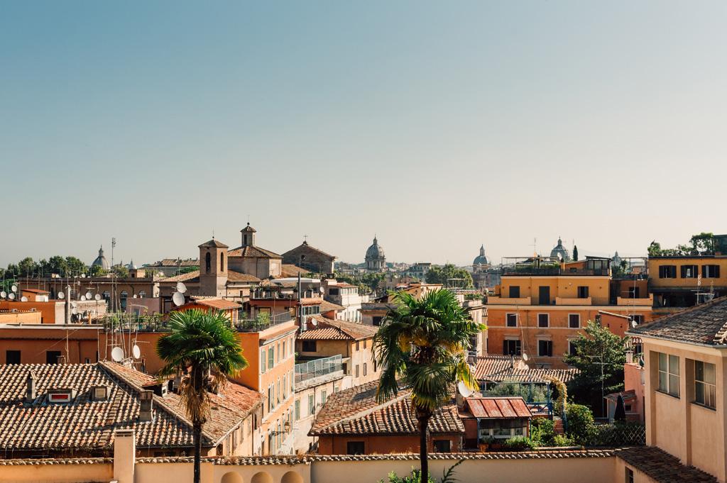 Una panoramica di Roma scatta da Alessandro Della Savia fotografo