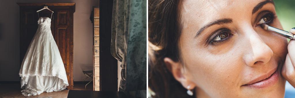 Alcune fotografie riprendono le fasi della preparazione di Silvia