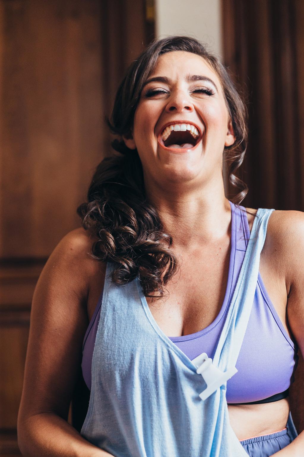Loreanne ritratta in un momento di allegria davanti alla lente del fotografo Alessandro Della Savia