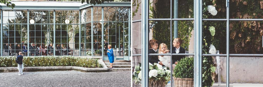 Alcuni dettagli delle suggestive vetrate di Villa Grumello