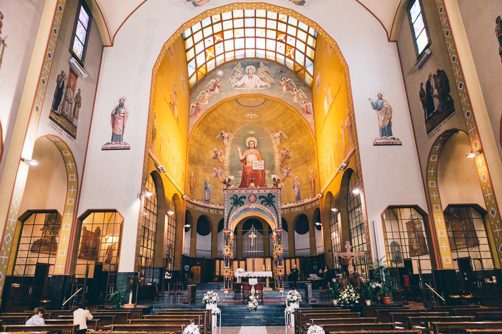 La chiesa di celebrazione della cerimonia di matrimonio
