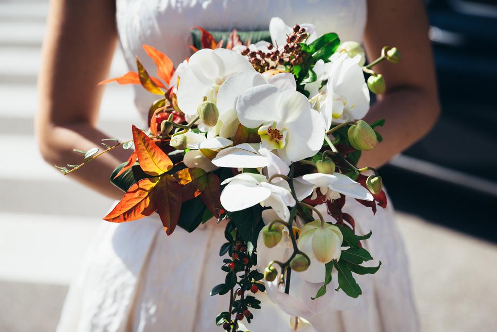 Un dettaglio del bouquet di Lidia