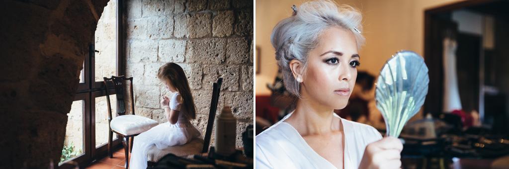 Alcuni scatti della preparazione della sposa Kim