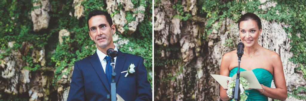 Alcuni dei discorsi dei testimoni durante la cerimonia del matrimonio di Daniela e Luca