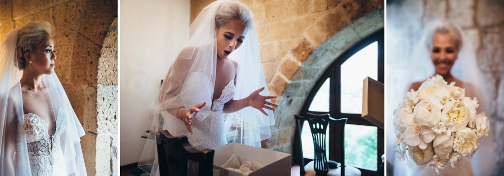 La preparazione volge al termine per la sposa