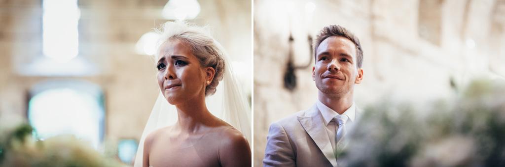 L'emozione degli sposi prima dello svolgimento della cerimonia del matrimonio