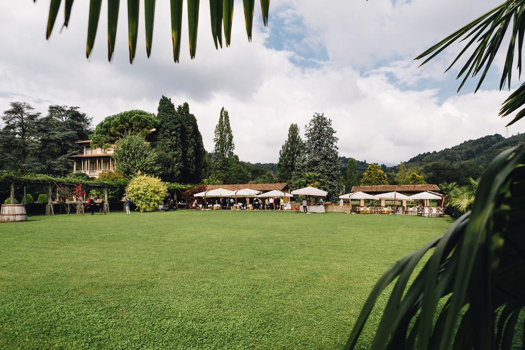 Un campo lungo di Villa Martinelli