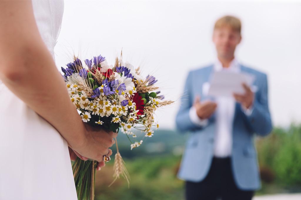 I colori variegati del bouquet