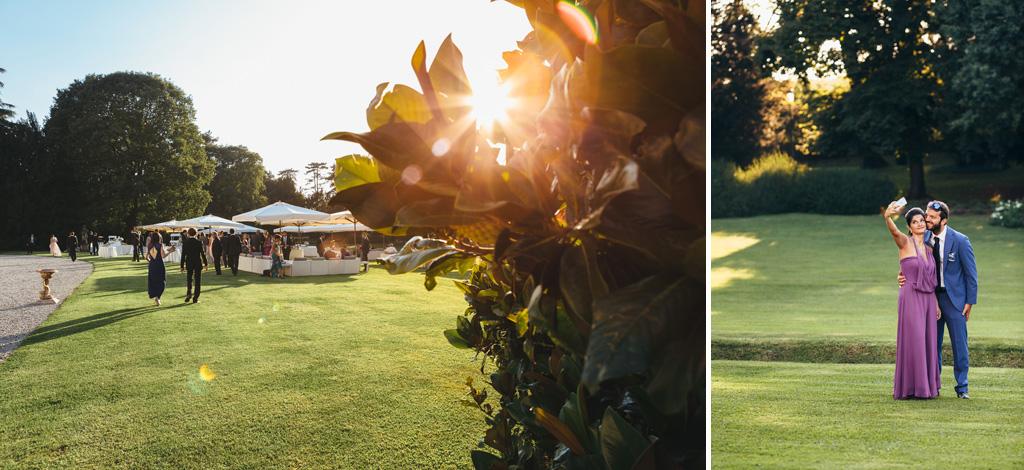 Alcune panoramiche degli invitati che si preparano al ricevimento di Villa Caroli a Stezzano