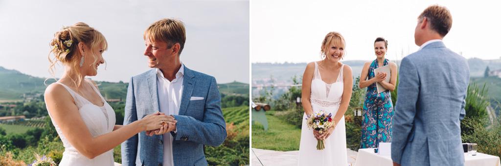 Dimitri e Tatiana enunciano le promesse di fedeltà ai principi del matrimonio