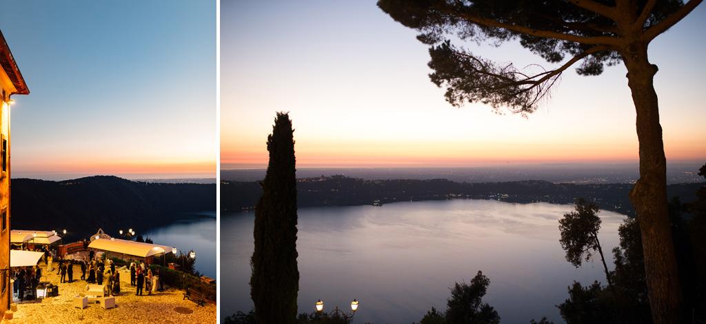 Alcune panoramiche riprese dal balcone di Villa del Cardinale