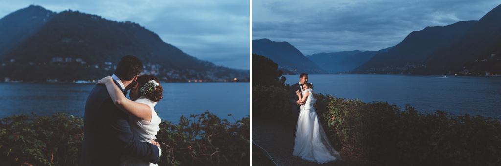 I due sposi, Luca e Daniela, sono ritratti da Alessandro Della Savia, fotografo presso Milano