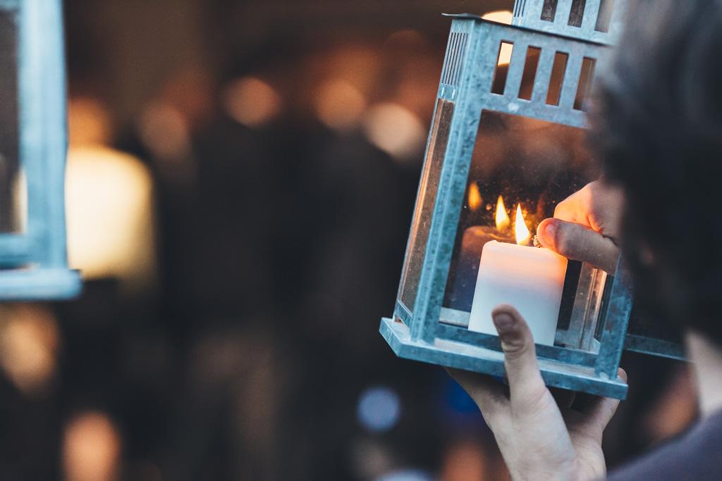 Il dettaglio di una candela