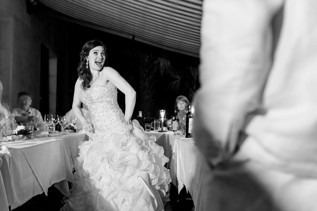 La sposa emana gioia da tutit i pori