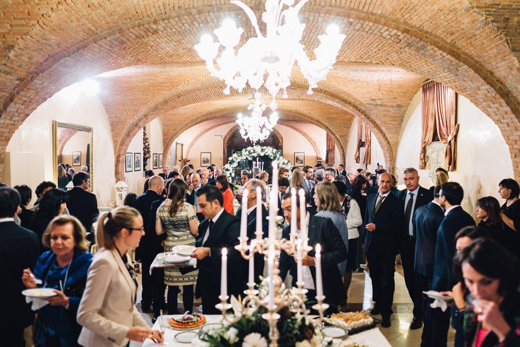 Una panoramica della cena di ricevimento