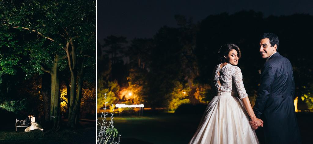 I due sposi posa per il fotografo Alessandro Della Savia nel giardino di Villa Caroli a Stezzano