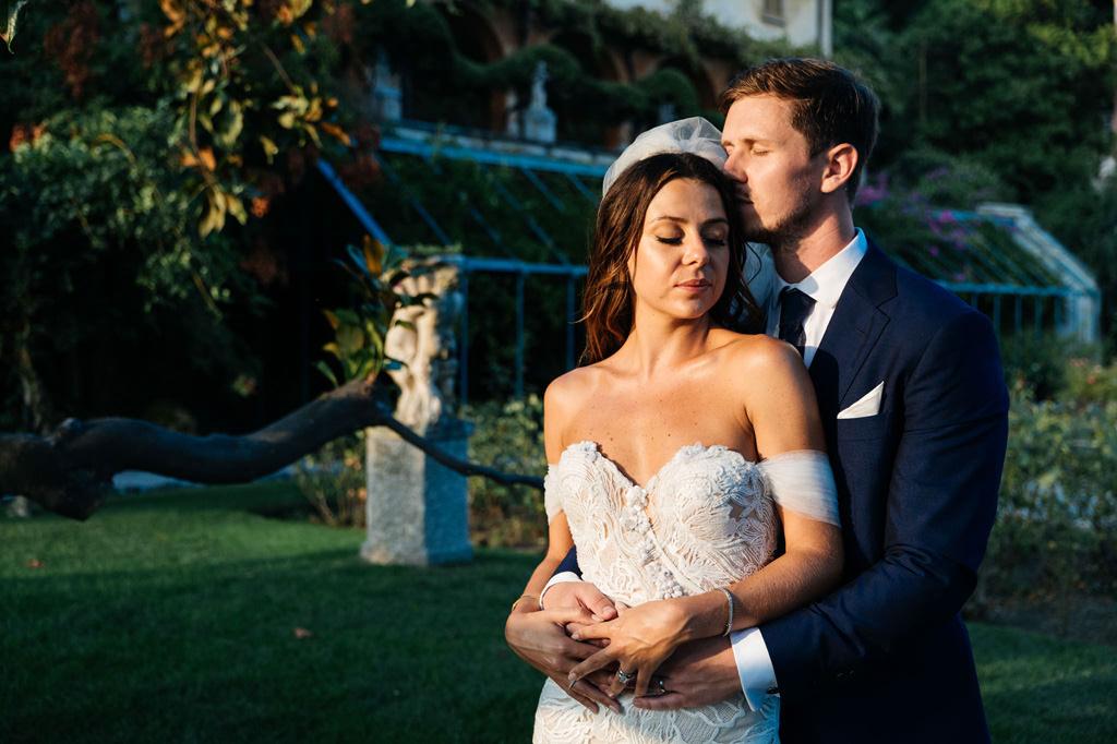 Tom e Indigo matrimonio lago di como tramonto