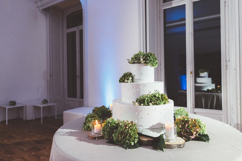 La torta nunziale degli sposi Luca e Daniela