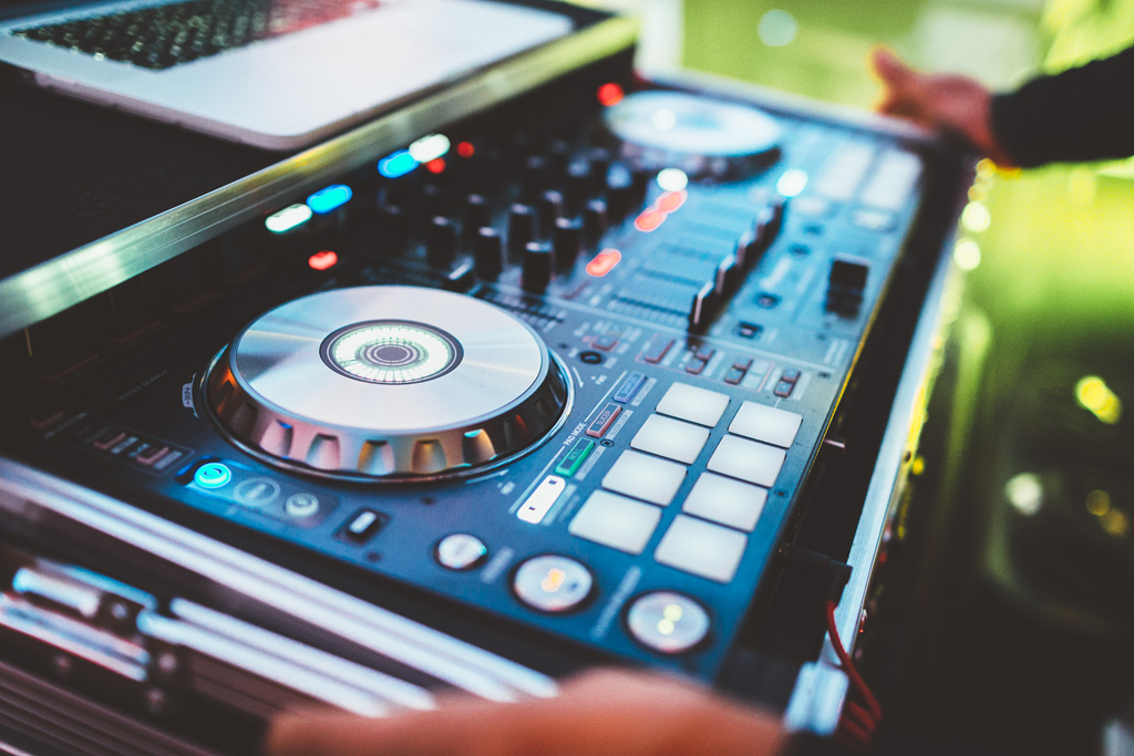La console del dj