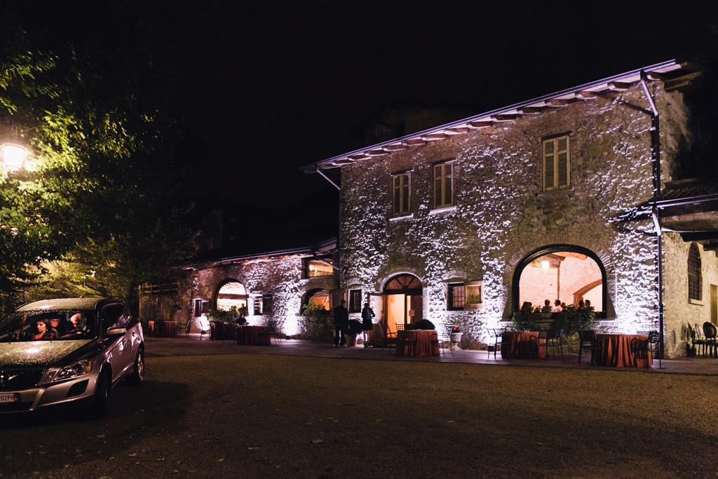 Lo scorcio notturno di Villa Martinelli