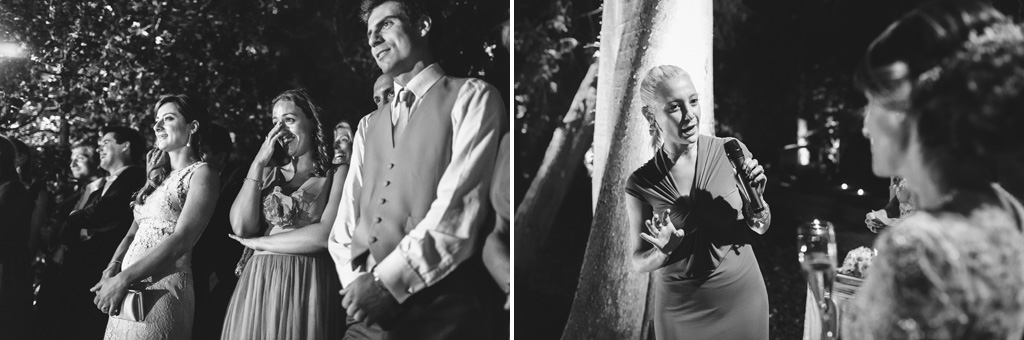 La commozione degli ospiti durante il ballo degli sposi