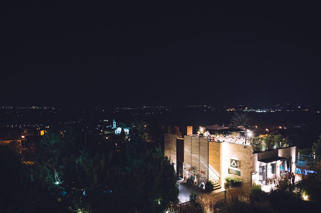Una panoramica dall'alto dell'Osteria Arborina