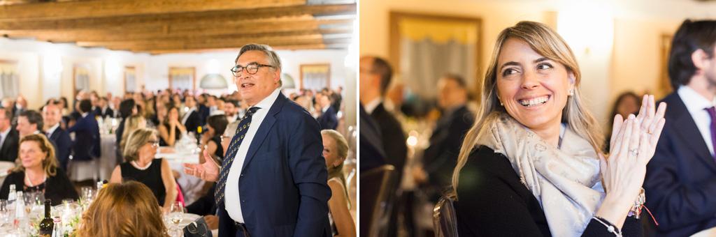 L'avvocato Raffaelii enuncia un discoro di ringraziamento a tutti i partecipanti durante la cena per il convegno dell'Antitrust presso Treviso