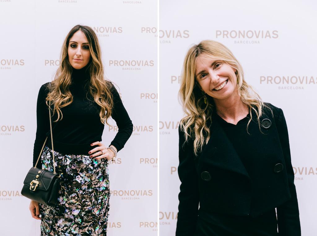 Alcune invitate riprese durante il Photocall della serata dedicata all'inaugurazione di Pronovias