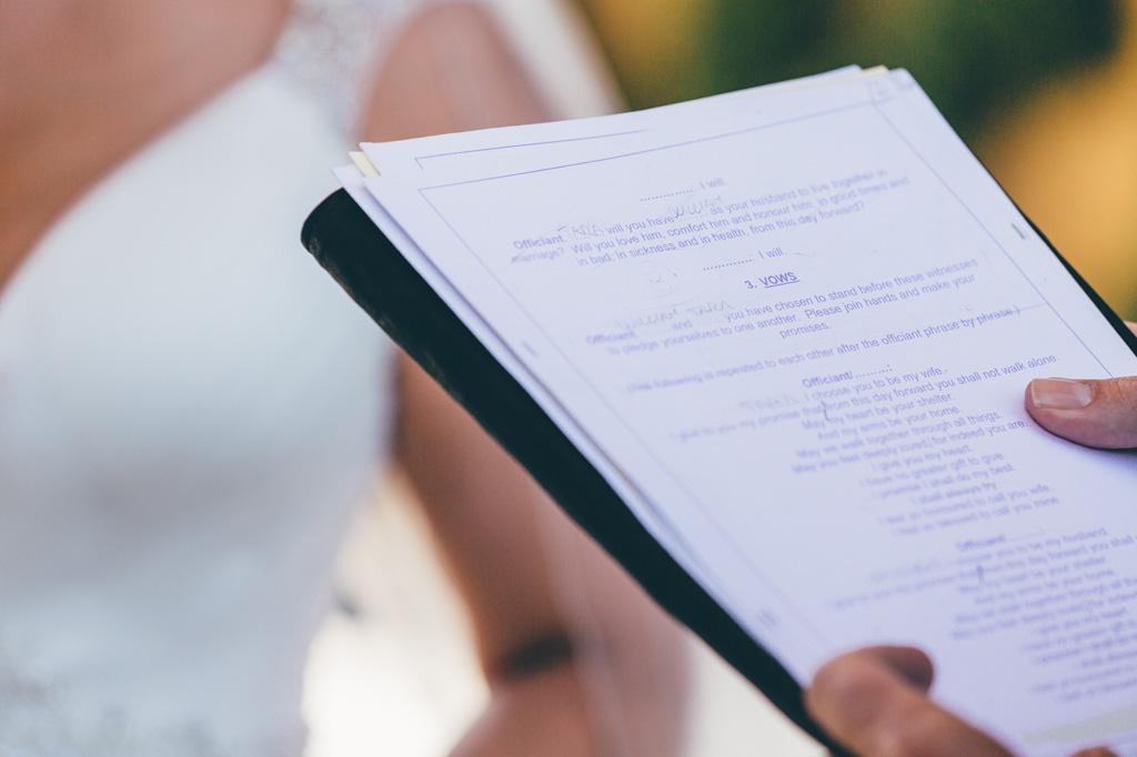 Le promesse della cerimonia del matrimonio