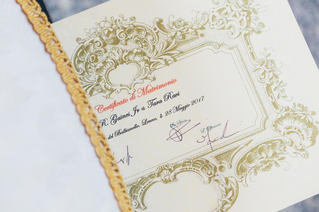 Il contratto matrimoniale firmato