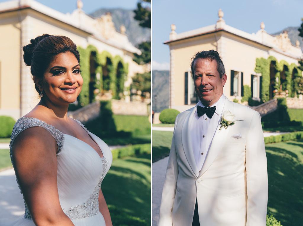 Gli sposi sono ritratti con volti sereni e gioiosi dal fotografo Alessandro Della Savia