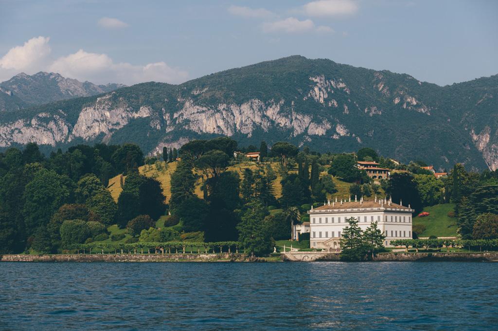 Una panoramica di Villa del Balbaniello