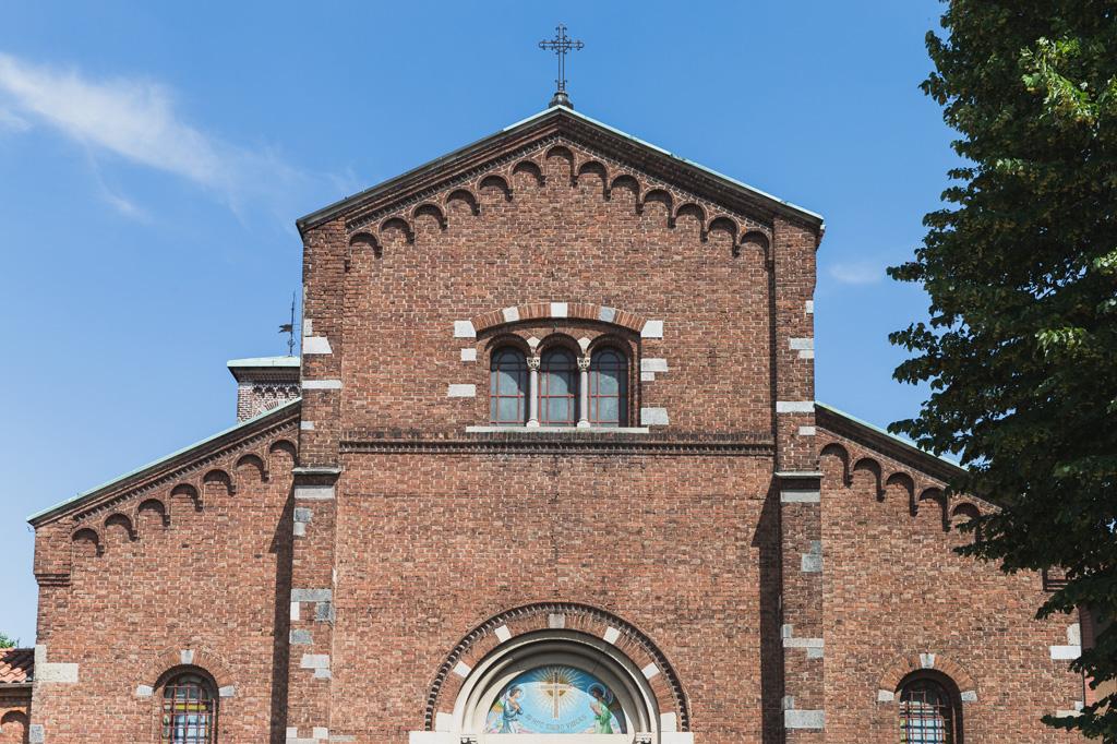 Una panoramica della chiesa dove si svolgeranno le nozze