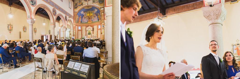 Una panoramica della cerimonia del matrimonio