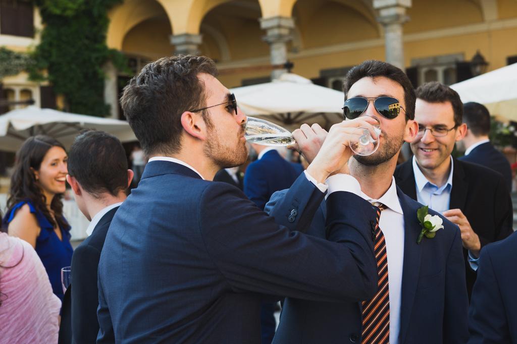 È una grande festa durante il ricevimento a Villa Orsini