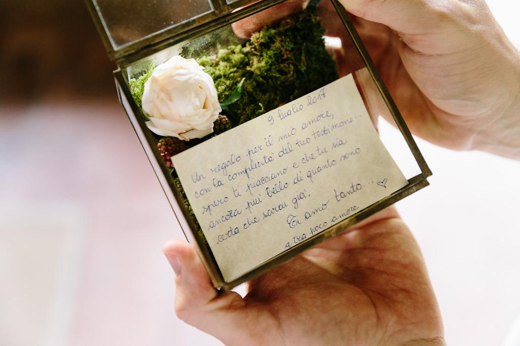 Il biglietto della sposa per lo sposo