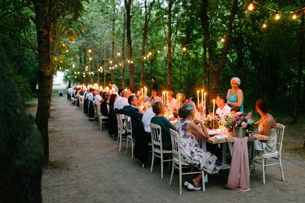 Gli invitati cenano al Convento dell'Annunciata