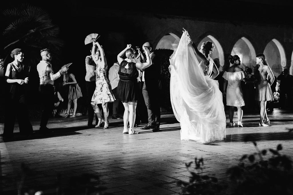 La pista da ballo del Convento dell'Annunciata durante il ricevimento di Laura e Matteo