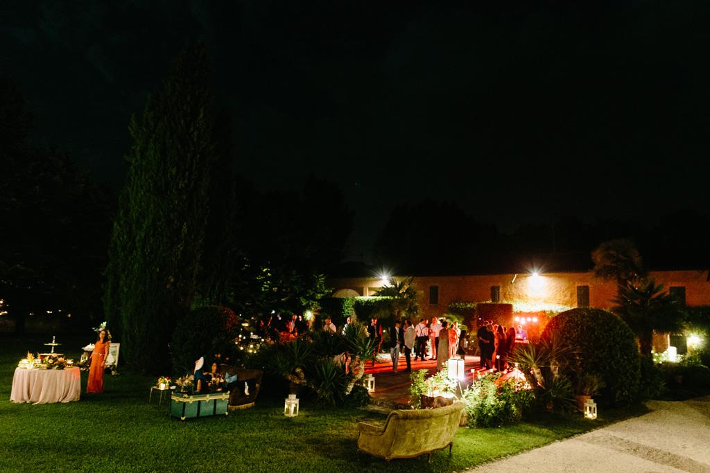 Il giardino del Convento dell'Annunciata durante il ricevimento di matrimonio di Laura e Matteo
