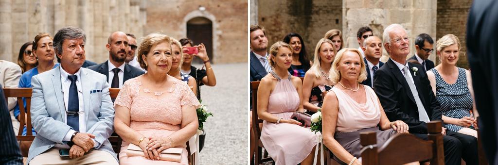 I genitori dello sposo e della sposa
