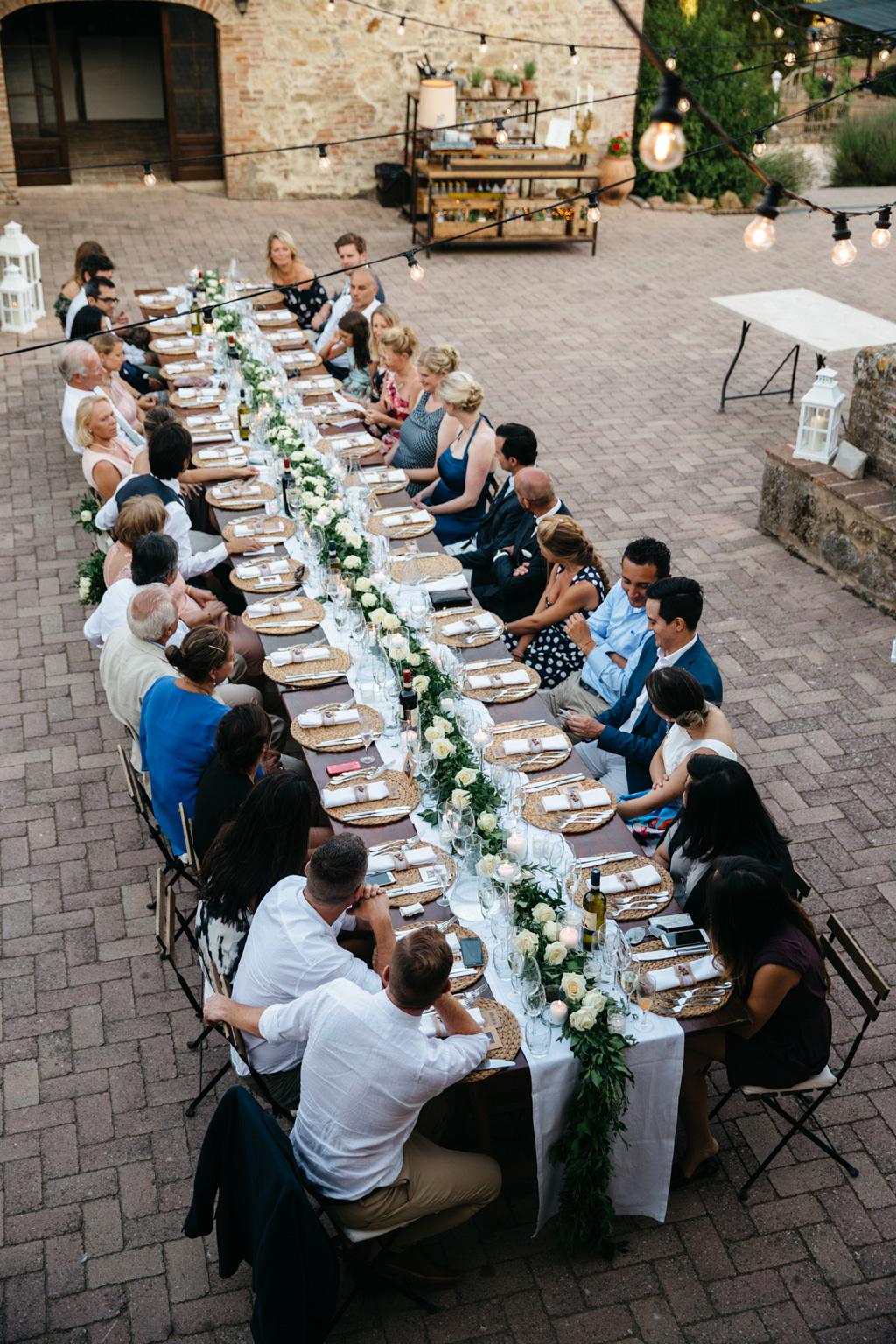 Il tavolo del ricevimento di Carlos e Catherine