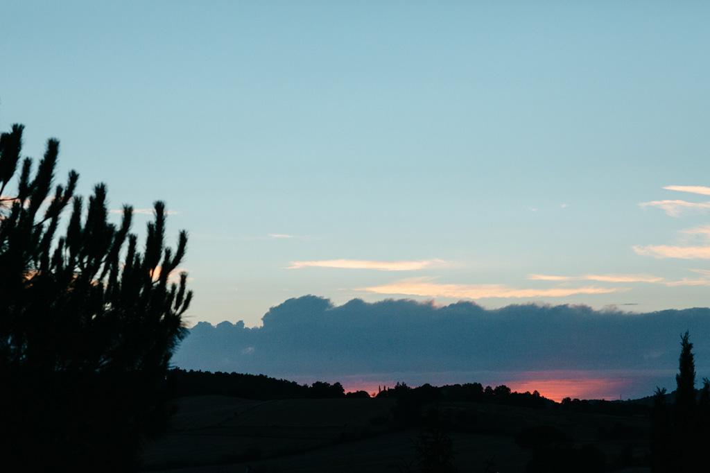 Colori fantastici al tramonto toscano