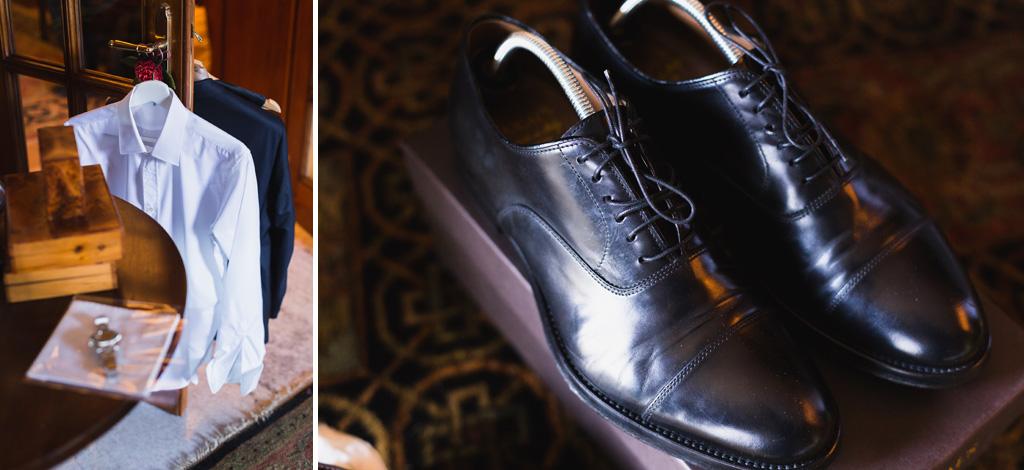 L'abito e le scarpe dello sposo