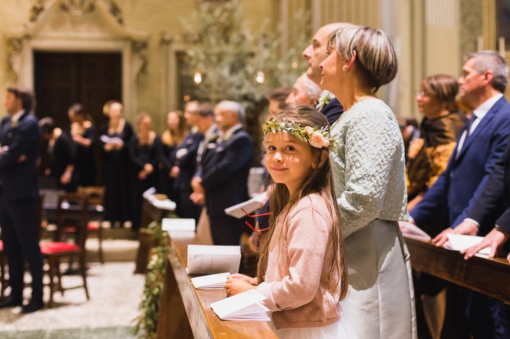 Gli invitati alla cerimonia di Carola e Federico