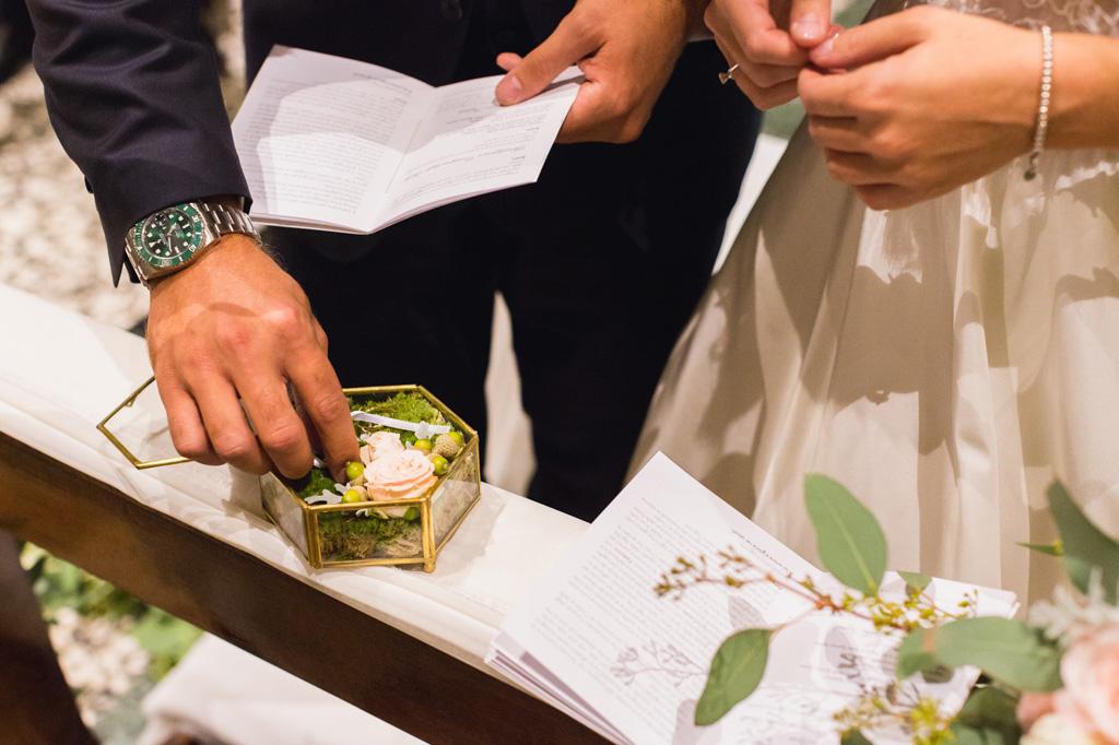 Lo sposo prende la fede
