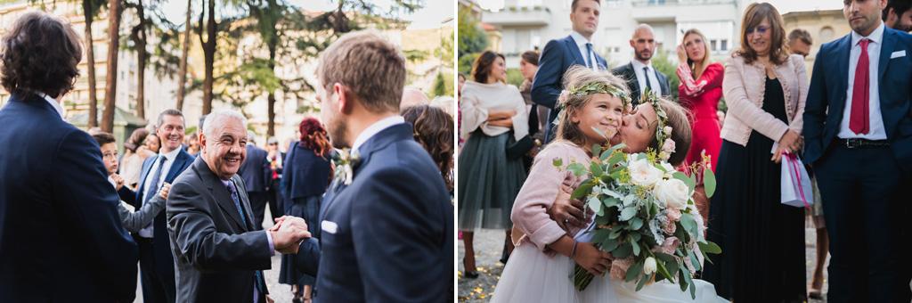 Federico e Carola salutano gli invitati
