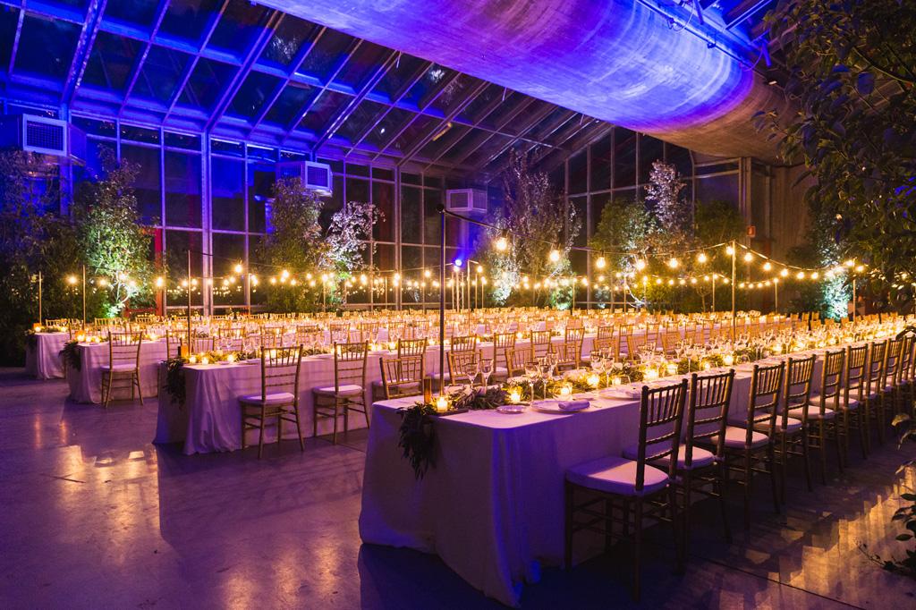 I quattro tavoli per la cena di nozze di Federico e Carola